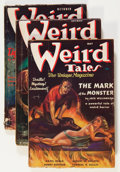 Pulps:Horror, Weird Tales Margaret Brundage Group (Popular Fiction, 1937)Condition: Average GD/VG.... (Total: 7 Items)