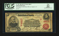 National Bank Notes:California, Los Angeles, CA - $5 1902 Red Seal Fr. 587 The Farmers & Merchants NB Ch. # (P)6617. ...