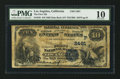 National Bank Notes:California, Los Angeles, CA - $10 1882 Date Back Fr. 545 The First NB Ch. # (P)2491. ...