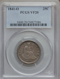 Seated Quarters: , 1841-O 25C VF20 PCGS. PCGS Population (2/73). NGC Census: (1/56).Mintage: 452,000. Numismedia Wsl. Price for problem free ...