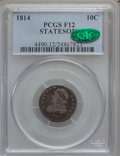 Bust Dimes: , 1814 10C STATESOF Fine 12 PCGS. CAC. PCGS Population (1/12).(#4490). From The Norva Collection....