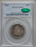 Seated Quarters: , 1841 25C XF45 PCGS. CAC. PCGS Population (7/32). NGC Census:(1/52). Mintage: 120,000. Numismedia Wsl. Price for problem fr...
