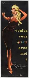 """Movie Posters:Mystery, Come Dance With Me! (Kingsley International, 1959). French Pantalon(22.5"""" X 62"""").. ..."""