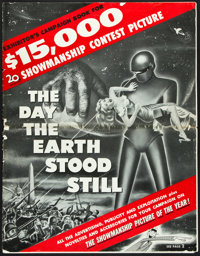 """The Day the Earth Stood Still (20th Century Fox, 1951). Uncut Pressbook (24 Pages, 14"""" X 18""""). Science Fiction..."""