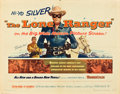 """Movie Posters:Western, The Lone Ranger and Other Lot (Warner Brothers, 1956). Half Sheets(2) (22"""" X 28"""").. ... (Total: 2 Items)"""