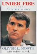 Books:Americana & American History, Oliver North. SIGNED. Under Fire. HarperCollins, 1991. Fifthprinting. Signed by the author. Fine....