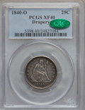 Seated Quarters: , 1840-O 25C Drapery XF40 PCGS. CAC. PCGS Population (9/52). NGCCensus: (4/53). Mintage: 43,000. Numismedia Wsl. Price for p...