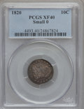 Bust Dimes: , 1820 10C Small 0 XF40 PCGS. PCGS Population (5/14). Numismedia Wsl.Price for problem free NGC/PCGS coi...