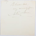 Autographs:Authors, A. C. Benson (1862-1925, British Writer). Clipped Signature. Very good....