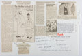 Autographs:Authors, Group of Signatures Relating to Punch, Including Nicolas Bentley (1907-1978, British Illustrator). Clipped Signatu...