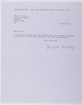 Autographs:Authors, Brigid Brophy (1929-1995, British Novelist). Typed Letter Signed. Very good....