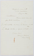 Autographs:Authors, Henry Coppee (American Writer, 1821-1895). Autograph Letter Signed. Very good....