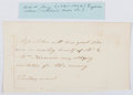 Autographs:Authors, Lucy Aikin (British Writer, 1781-1864). Hand-Written Note. Very good....