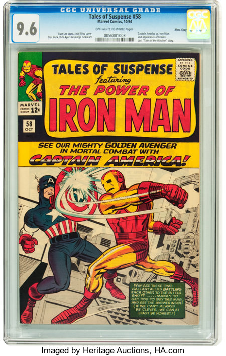 Tales of Suspense #58 Massachusetts pedigree (Marvel, 1964) CGC NM+ 9.6 Off-white to white pages....