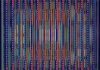 YAACOV AGAM (Israeli, b. 1928) Visual Orchestration Serigraph with beveled acrylic edges and wood fr