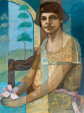 Latin American:Contemporary, AROCHA (Cuban, 20th Century). Seated Woman, 2003. Oil oncanvas. 31-1/2 x 23-1/2 inches (80.0 x 59.7 cm). Signed and dat...