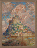 Fine Art - Painting, American, MARY LOUISE FAIRCHILD (American, 1866-1946). MontSaint-Michel. Oil on board. 24 x 18 inches (61.0 x 45.7 cm).Signed lo...