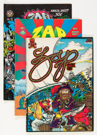 Zap Comix Group (Apex Novelties, 1970s) Condition: Average VG/FN.... (Total: 7 Items)