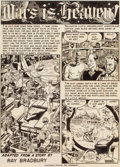 Pulp, Pulp-like, Digests, and Paperback Art, WALLY WOOD (American, 1927-1981). Mars is Heaven!, complete8-page story, Weird Science #18 (EC Comics), 1953. Mixed med...(Total: 8 Items)