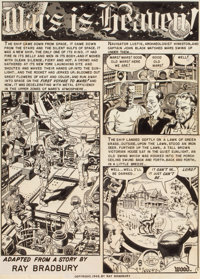 WALLY WOOD (American, 1927-1981) Mars is Heaven!, complete 8-page story, Weird Science #18 (EC Comics)