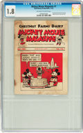Platinum Age (1897-1937):Miscellaneous, Mickey Mouse Magazine Dairy Giveaway V1#1 (Walt Disney Productions,1933) CGC GD- 1.8 Off-white to white pages....