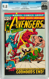 The Avengers #97 Rocky Mountain pedigree (Marvel, 1972) CGC NM/MT 9.8 White pages