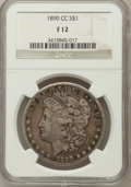 1890-CC $1 Fine 12 NGC. NGC Census: (81/5414). PCGS Population (101/9847). Mintage: 2,309,041. Numismedia Wsl. Price for...