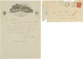 Autographs:Letters, 1930 Lou Gehrig Handwritten Letter with World Series Content,PSA/DNA Mint 9....