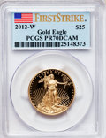Modern Bullion Coins, 2012-W $25 Half-Ounce Gold Eagle, First Strike PR70 Deep CameoPCGS. PCGS Population (0). NGC Census: (0)....