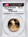 Modern Bullion Coins, 2012-W $25 Half-Ounce Gold Eagle, First Strike, Insert autographedby John M. Mercanti, 12th Chief Engraver of the U.S. Mint ...