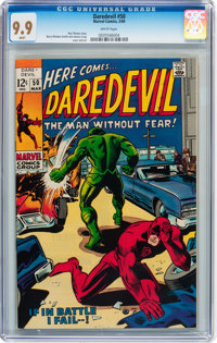 Daredevil #50 (Marvel, 1969) CGC MT 9.9 White pages