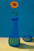 Latin American:Contemporary, ARTURO REGUEIRO (Cuban, 20th Century). Flower. Oil on board.22-1/2 x 15-3/4 inches (57.2 x 40.0 cm). Signed lower right...