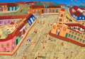 Latin American:Contemporary, LUIS MANUEL TORRES (Cuban, b. 1951). Plaza San Juan de Dios,2000. Oil on canvas. 18 x 25-3/4 inches (45.7 x 65.4 cm). S...