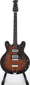 Musical Instruments:Electric Guitars, 1970s Ovation Tornado Sunburst Semi-Hollow Body Electric Guitar,Serial # H-417....