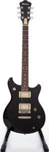 Musical Instruments:Electric Guitars, 1980 Ibanez Studio ST-50 Black Solid Body Electric Guitar, Serial #J806384....