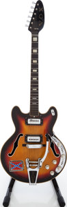 Musical Instruments:Electric Guitars, 1960s Vox Sunburst Semi-Hollow Body Electric Guitar, Serial # 386525. ...