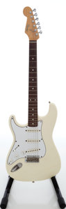 Musical Instruments:Electric Guitars, 1986 Fender Squire Stratocaster White Left-Handed Solid BodyElectric Guitar, Serial # E639976. ...