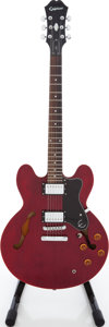 Musical Instruments:Electric Guitars, 2005 Epiphone DOT Semi-Hollow Body Electric Guitar, Serial #EE05097229....