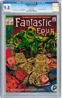 Fantastic Four #85 (Marvel, 1969) CGC NM/MT 9.8 White pages
