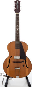 Musical Instruments:Electric Guitars, 1940s Silvertone Crest Natural Archtop Electric Guitar. ...