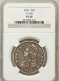 Bust Half Dollars, 1835 50C VF30 NGC. O-106. NGC Census: (29/748). PCGS Population(36/790). Mintage: 5,352,006. Numismedia Wsl. Price for pro...