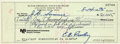 Music Memorabilia:Autographs and Signed Items, Elvis Presley Signed Check to J. D. Sumner (1975)....