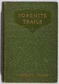 Books:Americana & American History, J. Smeaton Chase. Yosemite Trails. T. Fisher Unwin, 1912.Later impression. Toning and offsetting. Very good....