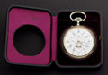 Timepieces:Pocket (post 1900), Swiss Large Moon Phase Calendar For Repair. ...