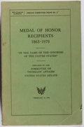 Books:Americana & American History, Committee on Veterans' Affairs. Medal of Honor Recipients1863-1978. US Govt., 1979. First edition, first printi...