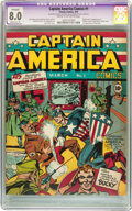 Golden Age (1938-1955):Superhero, Captain America Comics #1 (Timely, 1941) CGC Apparent VF 8.0 Moderate (P) Cream to off-white pages....