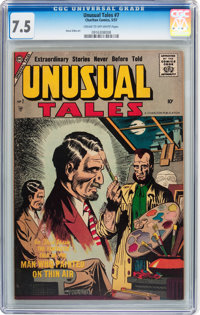 Unusual Tales #7 (Charlton, 1957) CGC VF- 7.5 Cream to off-white pages