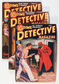 Pulps:Detective, Dime Detective Magazine Group (Popular, 1932-33) Condition: AverageVG-.... (Total: 3 Items)