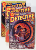 Pulps:Detective, Dime Detective Magazine Group (Popular, 1934) Condition: AverageVG-.... (Total: 4 Items)