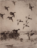 Fine Art - Work on Paper:Print, FRANK WESTON BENSON (American, 1862-1951). Pair: Migrating Geese, 1919. Etchings with drypoint. 9 x 7 inches (22.9 x 17.... (Total: 2 Items)